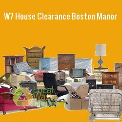 W7 house clearance Boston Manor
