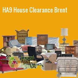 HA9 house clearance Brent