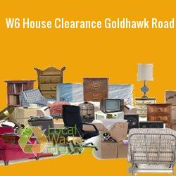 W6 house clearance Goldhawk Road