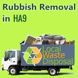 rubbish removal in HA9