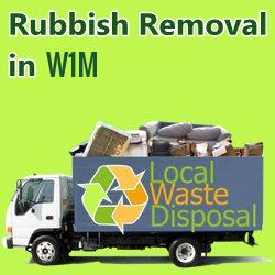 rubbish removal in W1M