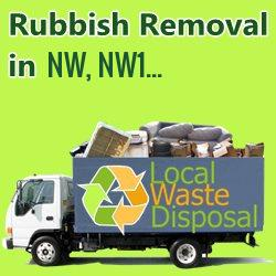 rubbish removal in NW, NW1...