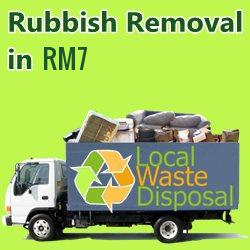 rubbish removal in RM7