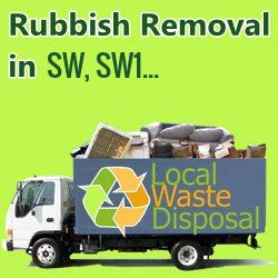 rubbish removal in SW, SW1...