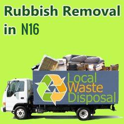 rubbish removal in N16