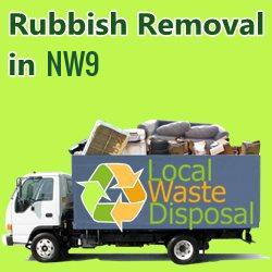 rubbish removal in NW9